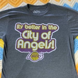Majestic NBA Lakers City of Angels Basketball Tee